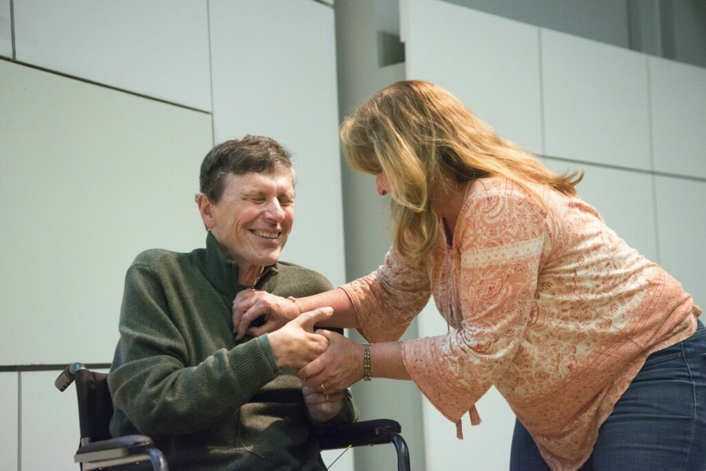 Writer George Smith talks outdoors, ALS at 'Community Voices' event