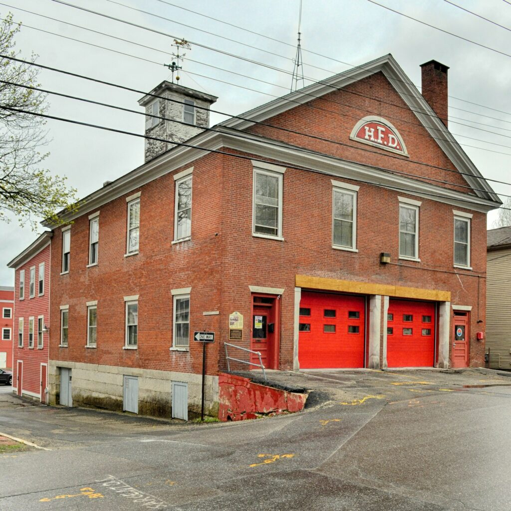 The old disused former Hallowell firehouse, shown Tuesday, stands at the corner of Second Street and Perley's Lane in Hallowell.
