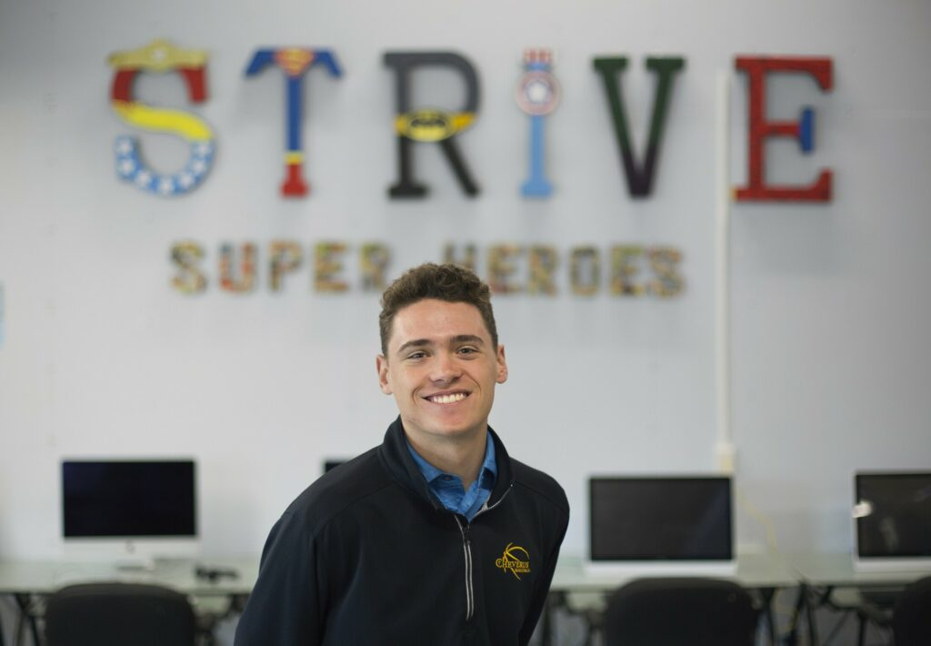 Richard Joyce is a top student, team captain and president of his class at Cheverus High School. He also volunteers at STRIVE, an organization that serves teens with developmental disabilities.