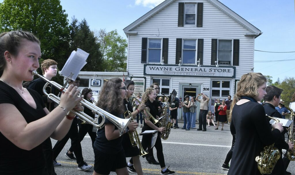 The Maranacook Marching Band enthralls the crowd attending the Memorial Day parade on Monday in Wayne.