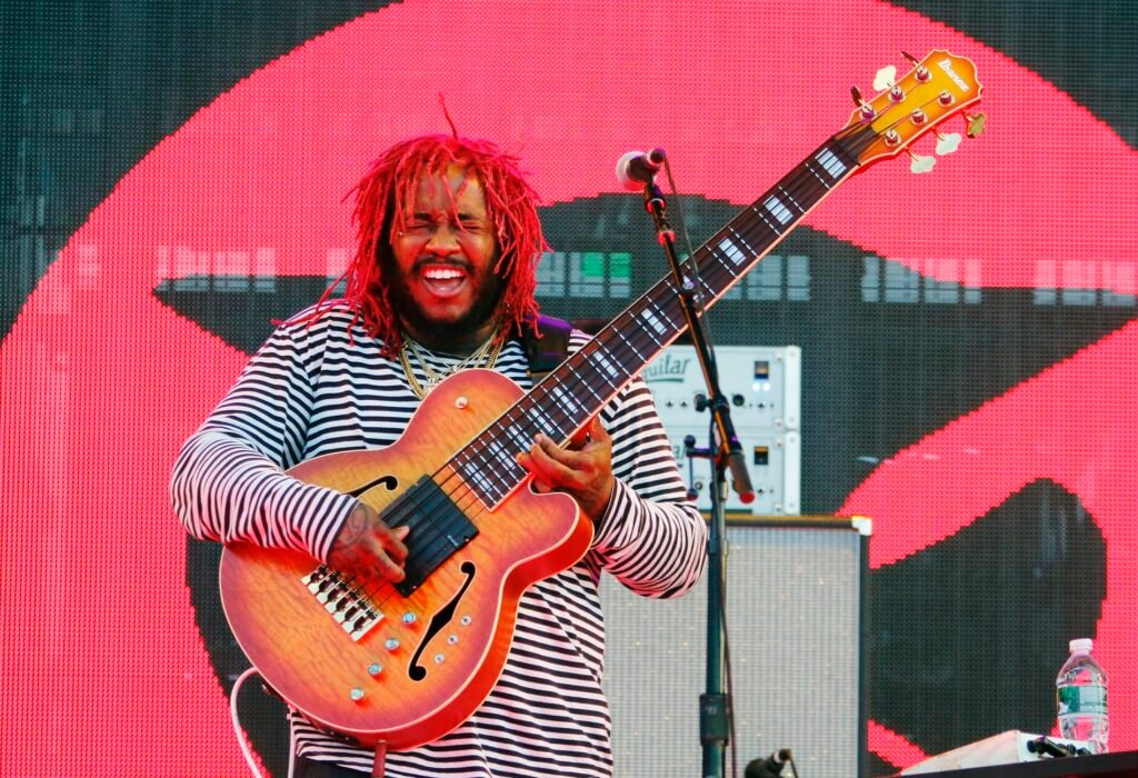 "Stephen ""Thundercat"" Bruner was the first opening act Sunday evening at Maine Savings Pavilion at Rock Row in Westbrook."