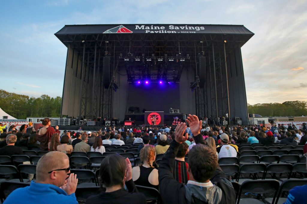 Fans cheer for Thundercat on opening night at Maine Savings Pavilion at Rock Row in May. Each concert has stirred noise complaints from nearby residential neighborhoods.