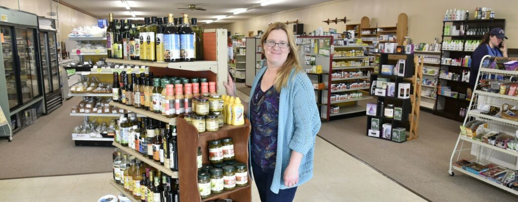 Ginny's Natural Corner owner Virginia Jewell stands inside her  health food store on May 29, 2019, at 217 North Ave. in Skowhegan.
