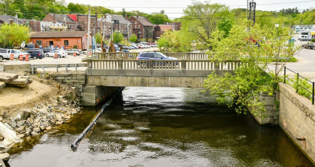 The Maine Avenue bridge in Gardiner, seen Friday, will be replaced as part of construction project at Cobbosseecontee Stream.