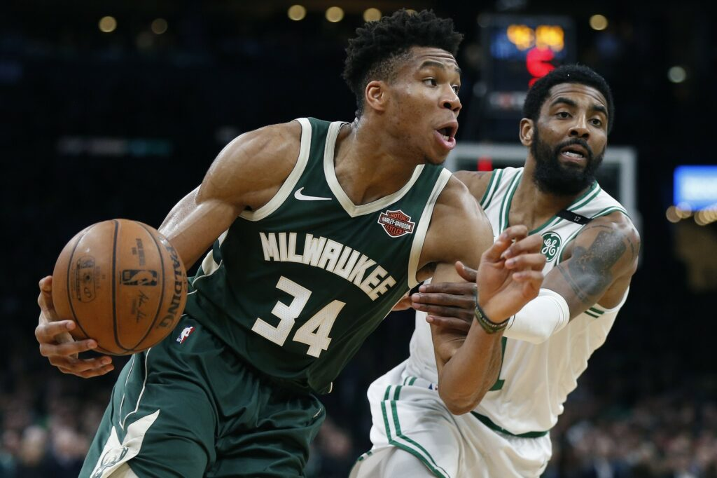 Giannis Antetokounmpo and the Milwaukee Bucks will try to take a commanding lead over the Kyrie Irving and the Boston Celtics in Game 5 of their Eastern Conference semifinal series Monday night in Boston.