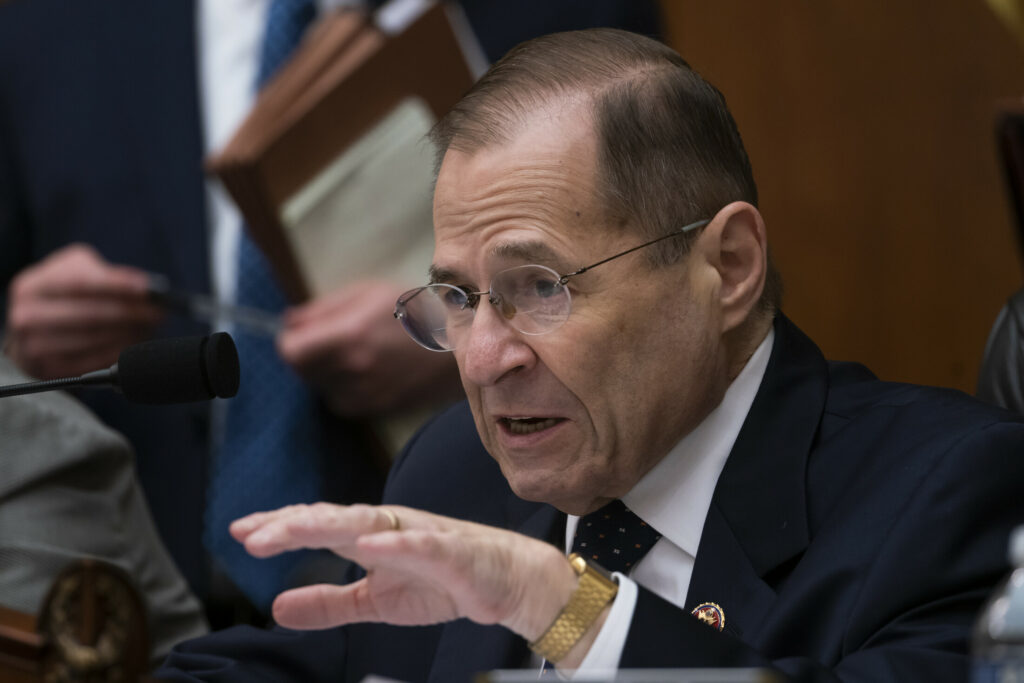 House Judiciary Committee Chair Jerrold Nadler, D-N.Y., moves ahead with a vote to hold Attorney General William Barr in contempt of Congress after last-minute negotiations stalled with the Justice Department over access to the full, unredacted version of special counsel Robert Mueller's report, on Capitol Hill in Washington, Wednesday.