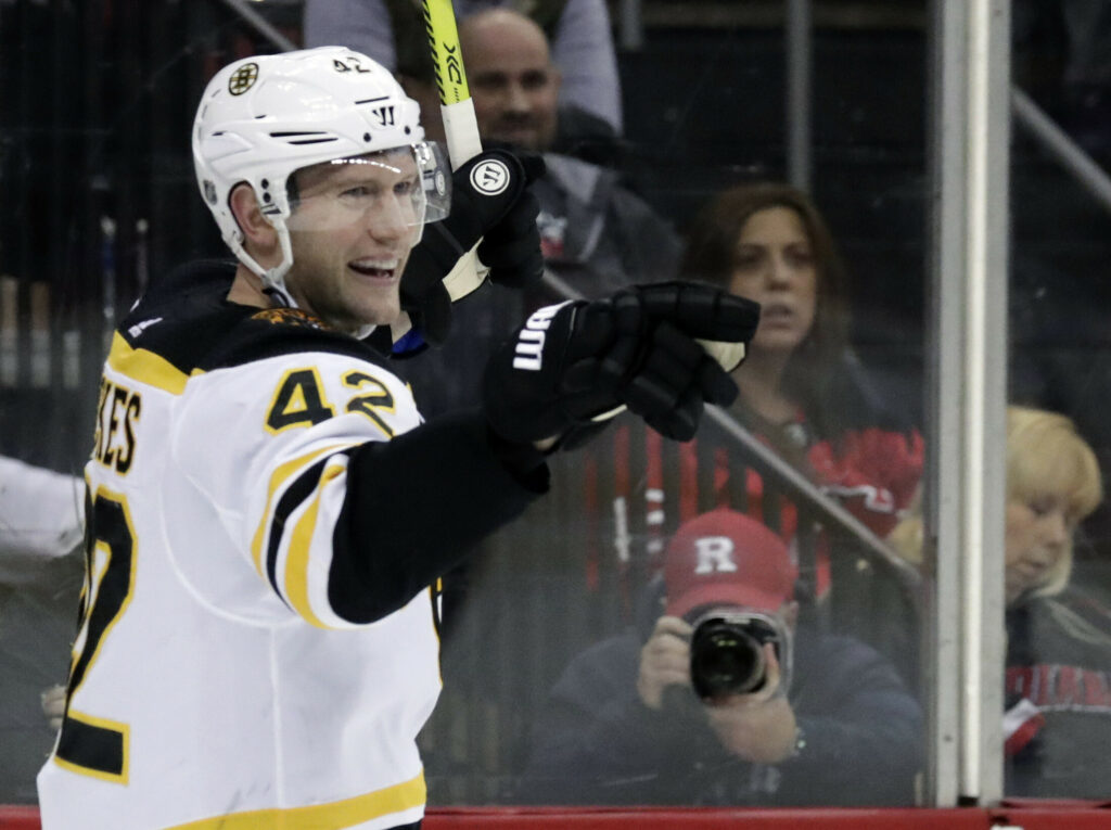 David Backes of the Bruins will face his former team when the Bruins host the St. Louis Blues Monday in Game 1 of the Stanley Cup finals.