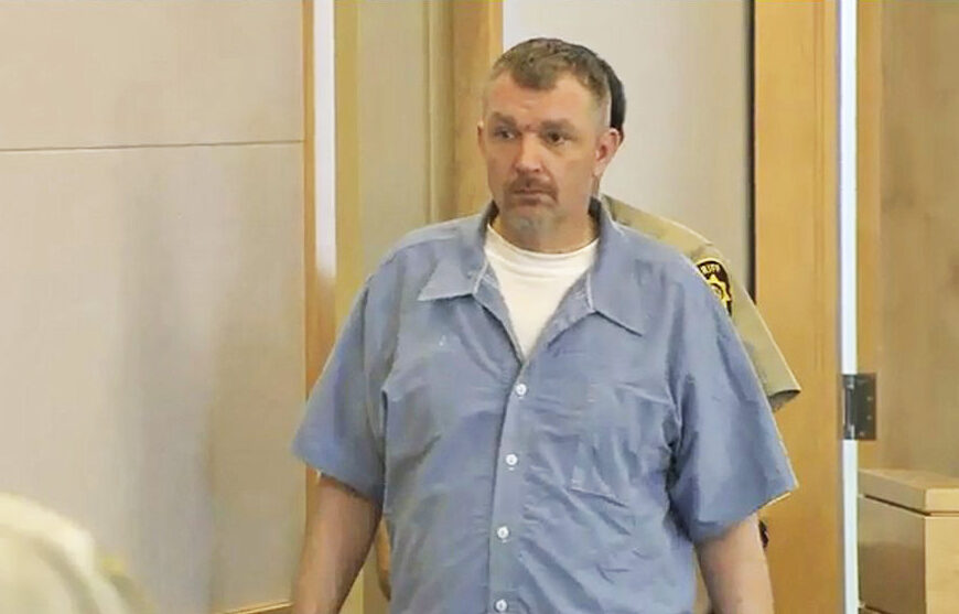 Anthony Lord enters a Bangor courtroom for his sentencing in 2017.