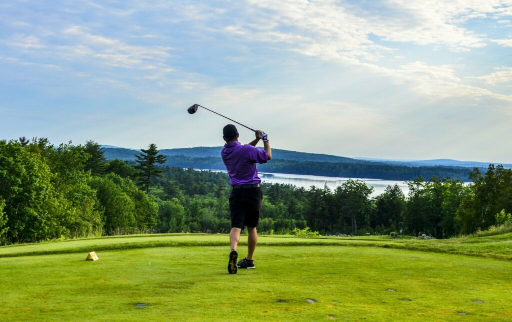 Peter Wright plays in Maine Amateur Championship on  July 10, 2018, at the Belgrade Golf Club.