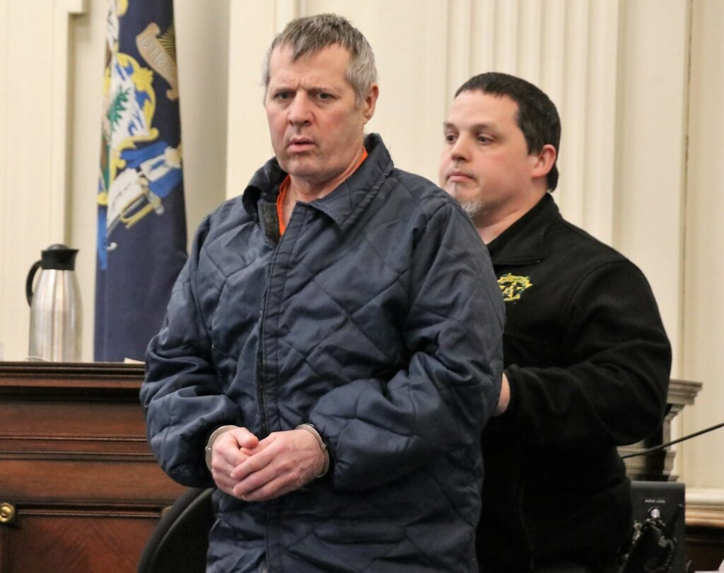 A York County Superior Court Justice has denied motions to suppress evidence in the murder case of Bruce Akers, shown here in a March. Akers, of Limington, is accused of killing his neighbor, Douglas Flint in June 2016. A trial is scheduled for August.