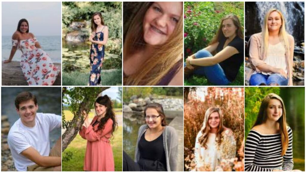 Top row from left are Lilyana Aloes, Lauren Chestnut, Madolynn Hughes, Lillian Johnson and Lindsay Lesperance. Bottom row from left are Brody Miller, Lauren Rafferty, Sidney Small, Makayla Vicneire and Chantel Whittemore.