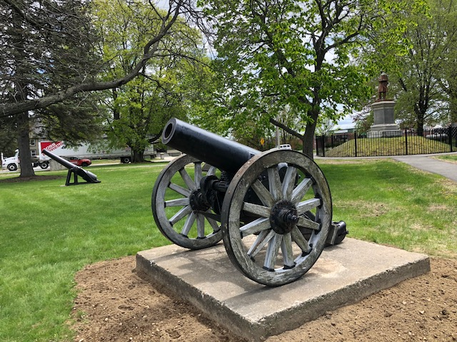 Veterans Memorial Park in Waterville is the new home for this 1890s-vintage field artillery piece. The German howitzer captured in World War I, which would have been pulled by a team of six draft horses, could fire a 90-pound explosive projectile over 3.5 miles, according to the city of Waterville's website.
