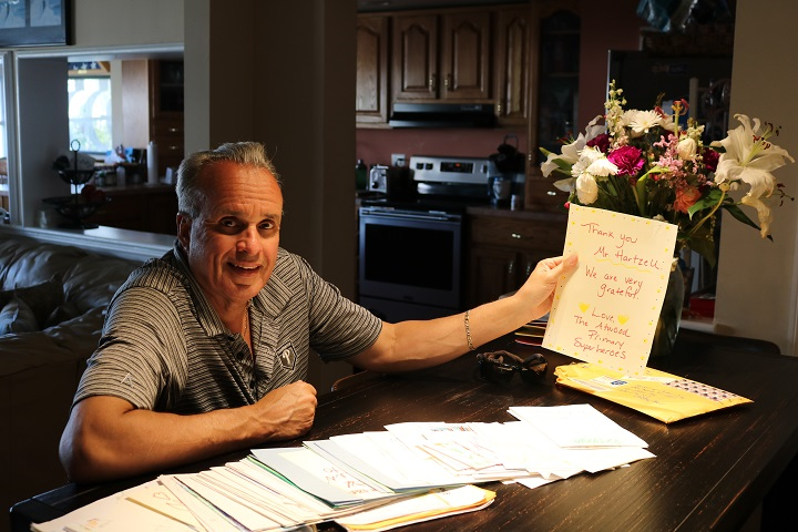 Keith Hartzell, regional sales manager for von Drehe Corp. and Ocean City, New Jersey, city councilor, received over 200 handwritten thank-you notes from Atwood Primary School students in May after he donated $1,000 to the Oakland school. He has since pledged an annual contribution of $1,000 until the current pre-kindergarten class graduates from high school.