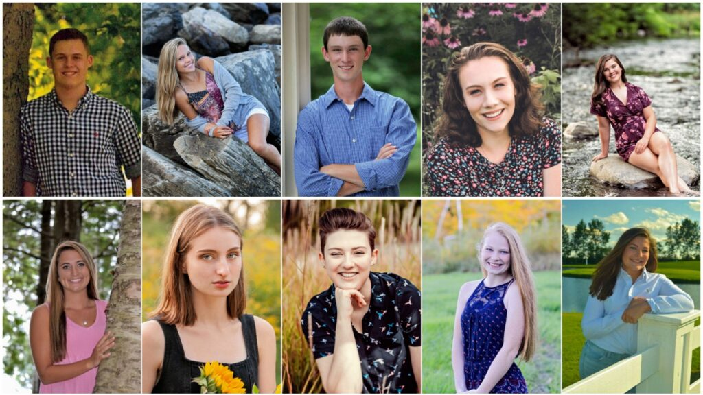 Lawrence High School's top 10 seniors for the class of 2019. Top from left are Matthew Brown, Payton Goodwin, Nicholas Grard, Kiana Joler and Abigail LaRochelle. Bottom from left are Macie Larouche, Kassandra Lewis, Bryn Mayo, Brianna Meader and Emma Robillard.