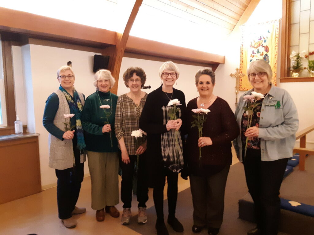 Mainely Harmony recently installed its new officers. From left are Jenny Clair, Kathy Joyce, Janet Dunham, Barbara Combs, Candace Pepin and BJ Sylvester-Pellett.