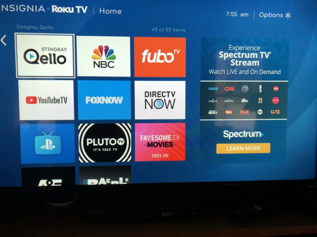 Fubo, YouTubeTV, DirectTVNow and Playstation Vue (bottom left) are among the streaming services you can watch on your TV to get live local sports. Most allow you to use the service for a month at a time, cancelling and restarting whenever you want.