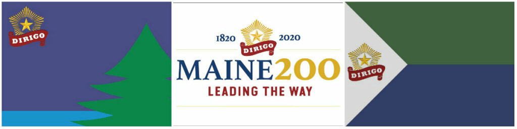 Maine bicentennial flag designs