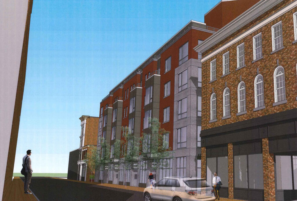 Architectural rendering of the proposed J.B. Brown project on Free Street.