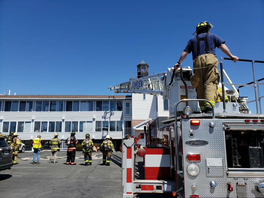 Firefighters responded to a fire at the Trade Winds Inn in Rockland on Thursday, May 9, 2019.
