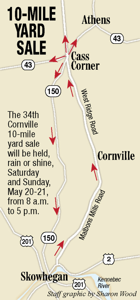 Yard sales lining up more than 10 miles for Cornville's