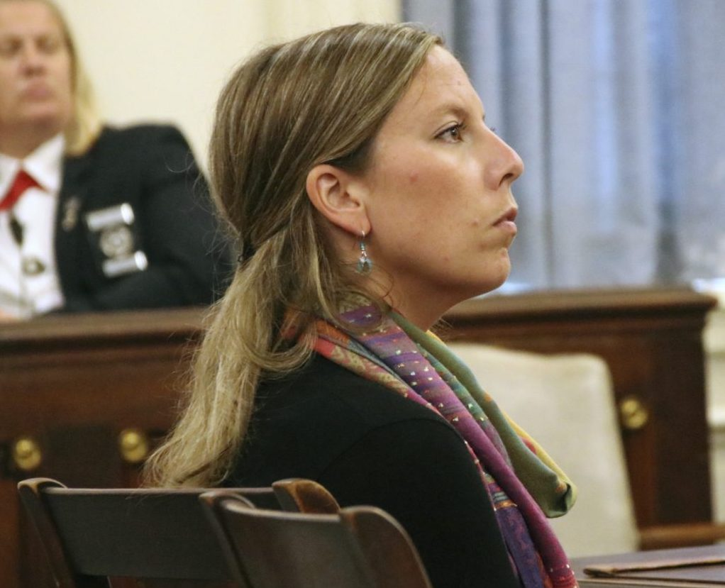 Former Kennebunk High School teacher Jill Lamontagne was acquitted by a jury last year on sex charges involving a student. She now plans to sue the school district.
