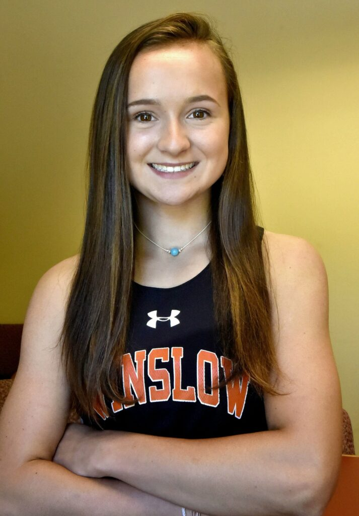 Winslow High School's  Carly Warn is the Morning Sentinel Girls Track and Field Athlete of the Year.
