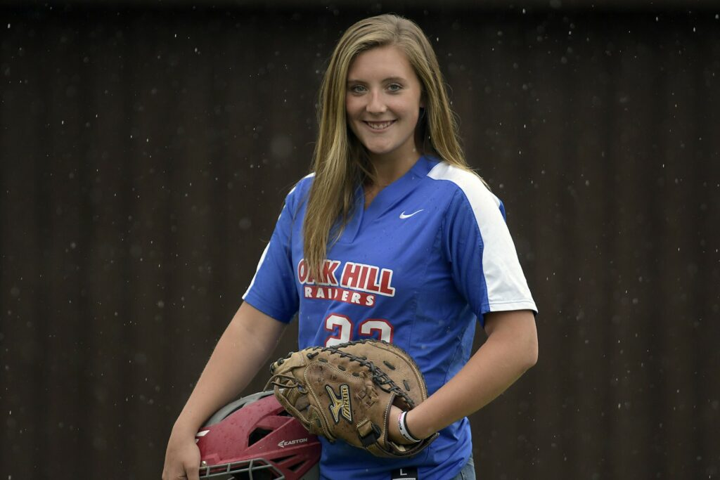 Oak Hill pitcher Abby Nadeau is the Kennebec Journal Softball Player of the Year.