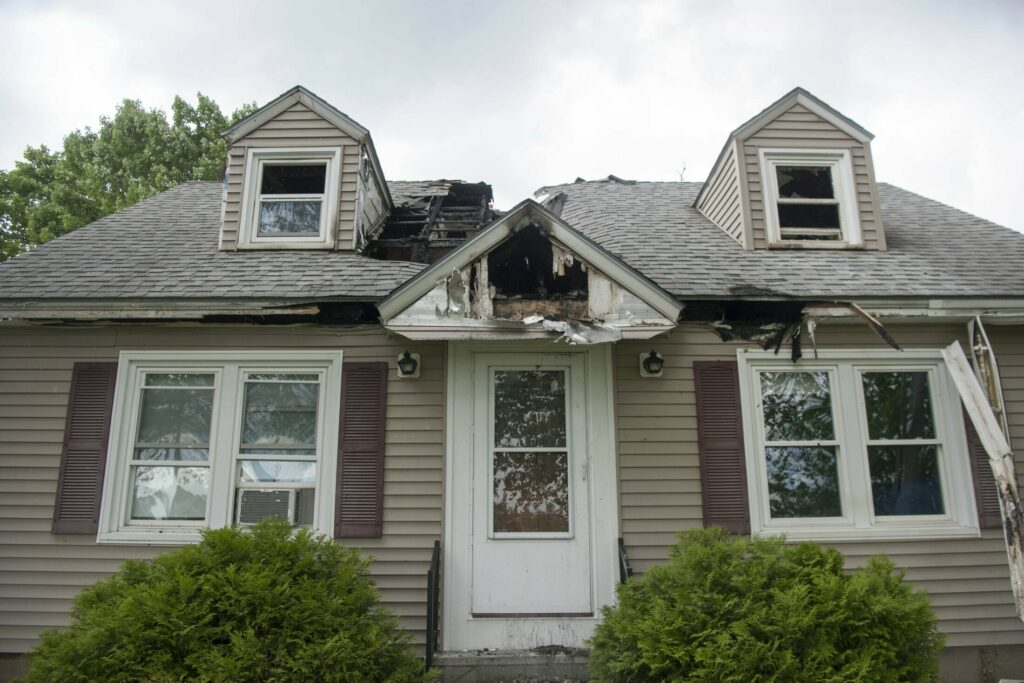Fire damaged this home severely early Saturday morning on Mae Terrace in Waterville.