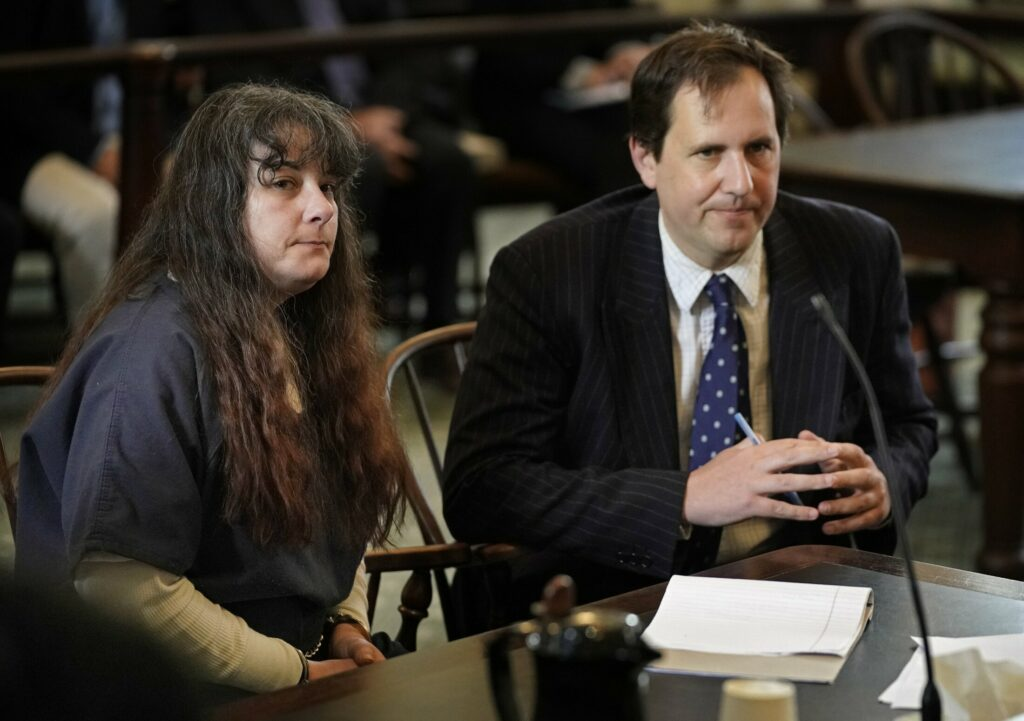 Shawna Gatto, shown with her attorney Jeremy Pratt during her sentencing in Lincoln County Superior Court in June, is appealing both her conviction and sentence in the murder of 4-year-old Kendall Chick.