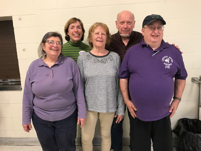 The newly elected officers from left are  assistant treasurer Barbara Robbins, of Madison; secretary Karen Cunningham, of Pittsfield; treasurer Becky Potter, of Fairfield; president Bob Brown, of Newport; and vice president Jeff Howes, of Pittsfield.