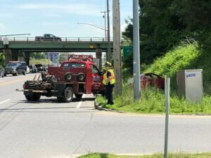One injured in 2-car crash near I-95 on-ramp in Augusta
