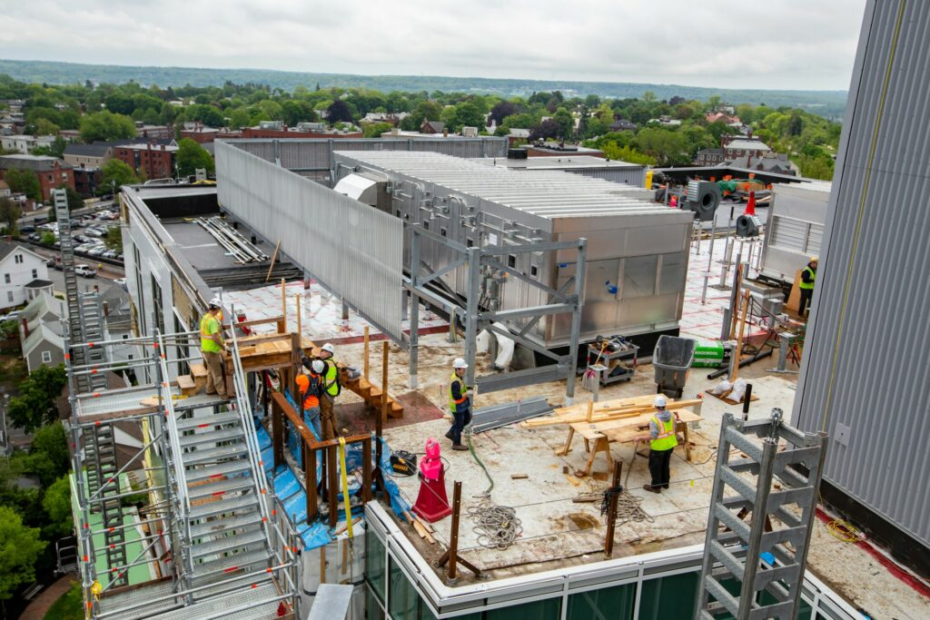 Construction is underway on an expansion at Maine Medical Center in Portland. The hospital has announced $10.5 million in philanthropic pledges.