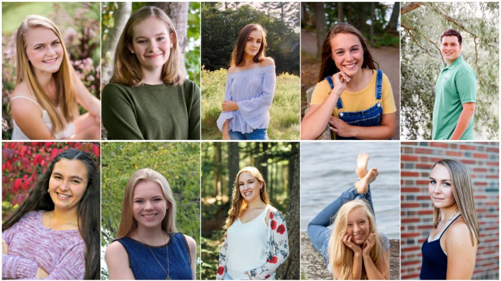 Messalonskee High School top 10 seniors for 2019. Top from left are Molly Calkins, Grace Carlson, Emma Wentworth, Edin Sisson and Seth Main. Bottom from left are Emily Larsen, Julia Cooke, Delaney Johnston, Paige Lilly and Autumn Littlefield.