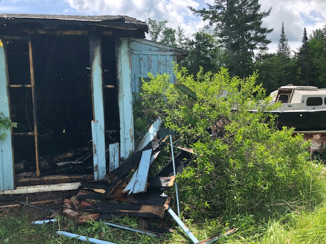 The town-owned building that burned early Sunday morning on U.S. Route 2 in Pittsfield has not been occupied for at least a few years, according to Pittsfield Fire Chief Bernard Williams.