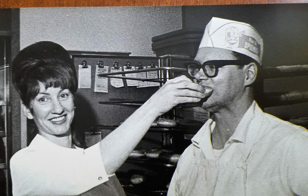 Robert A Frost, pictured here with wife June Frost in an undated photo, died Monday. He opened a franchise Spudnut donut shop in 1965 in Brunswick, which moved to Maine Street 5 years later and became Frosty's Donut Shop in 1972.