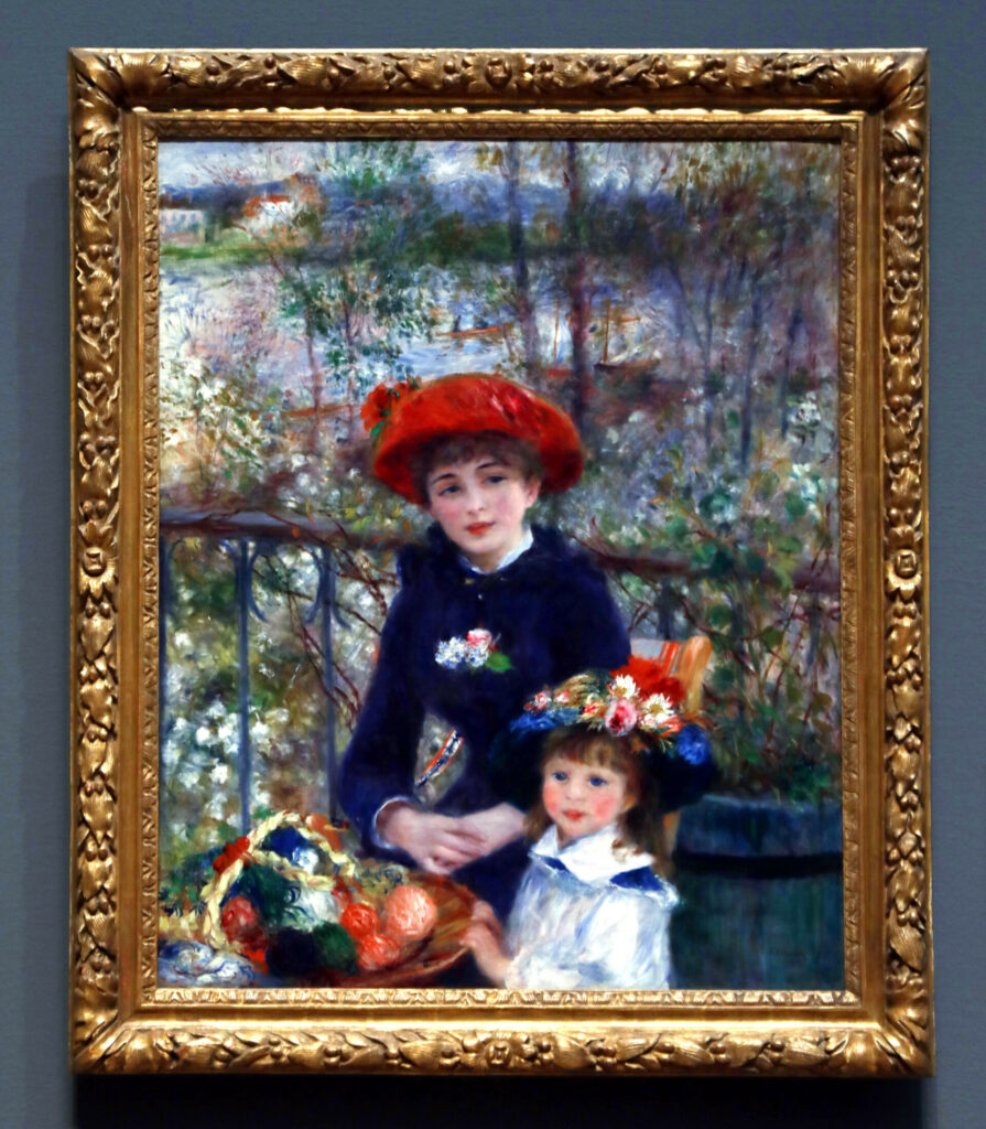 "Renoir's ""Two Sisters""(1881) hangs in Chicago's Art Institute"