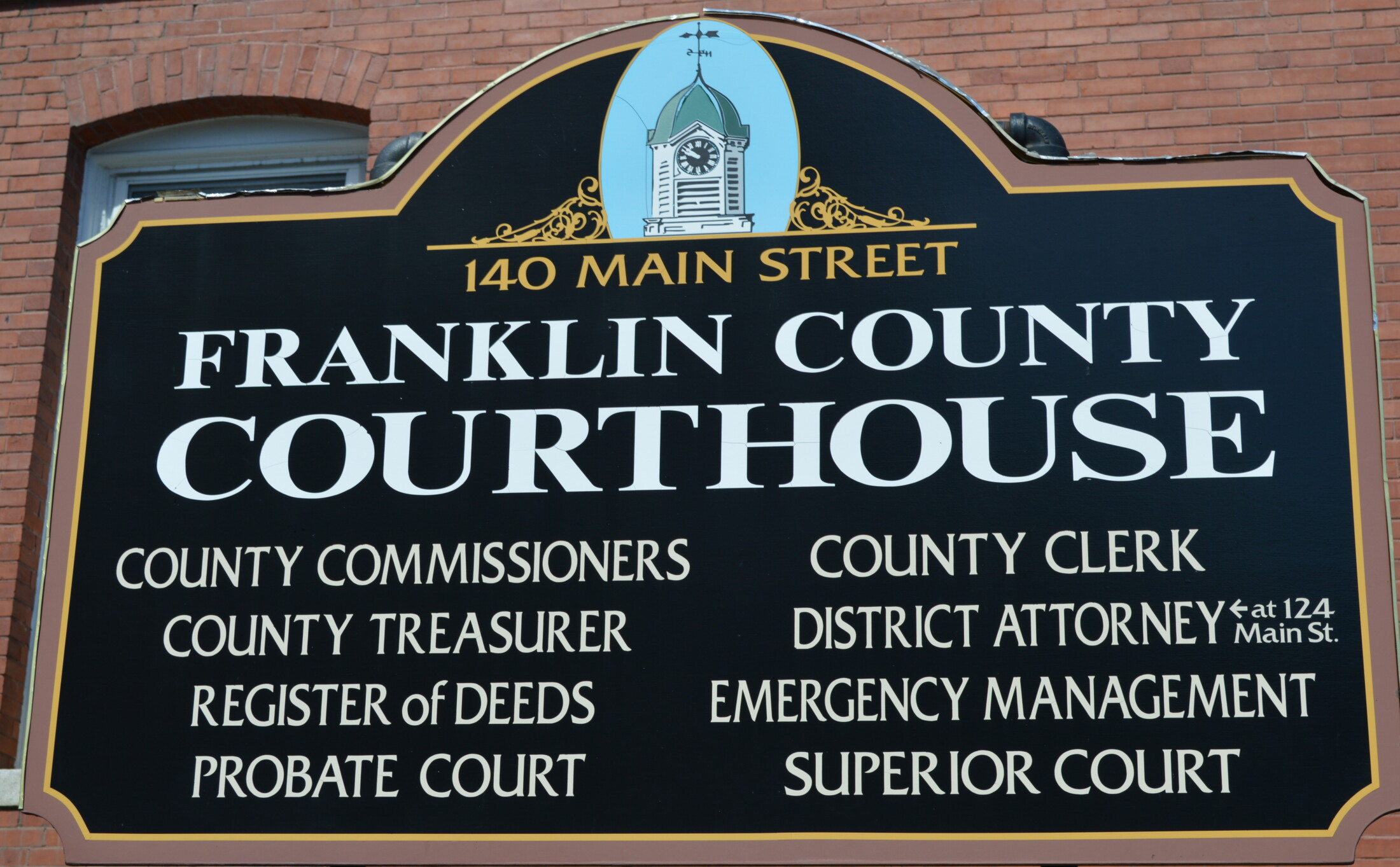 Franklin County Courthouse, DA's Office closed Friday