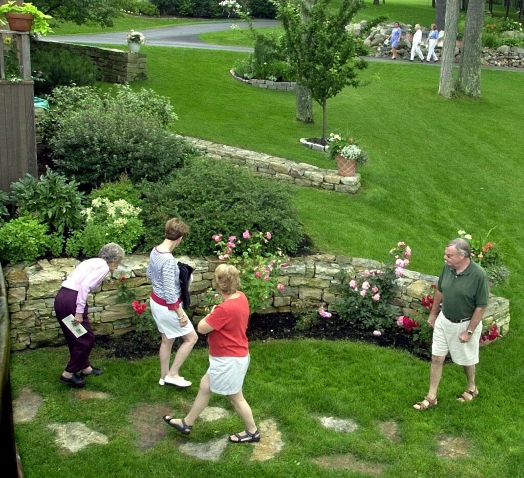 Garden enthusiasts on a past garden tour in East Winthrop.