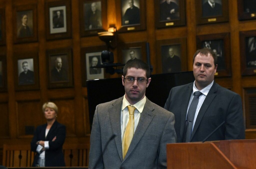 The jury has begun deliberations in the murder trial of John D. Williams, center, who stands accused of killing Cpl. Eugene Cole.