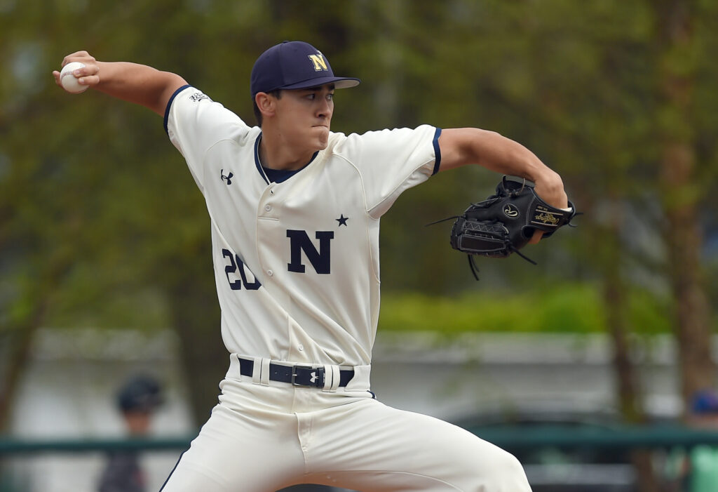 Navy pitcher Noah Song was selected in the fourth round Tuesday by the Boston Red Sox in the major league draft.