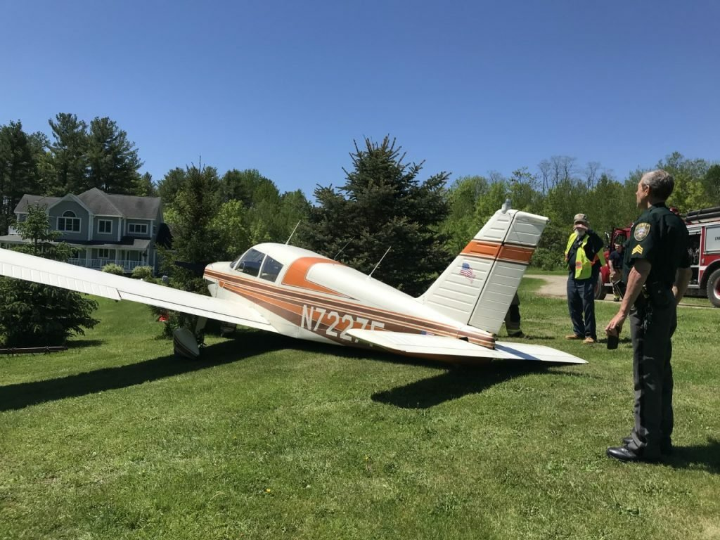 A small plane crash-landed shortly after takeoff in Bodwoinham June 7, 2019. The pilot and passenger weren't injured.