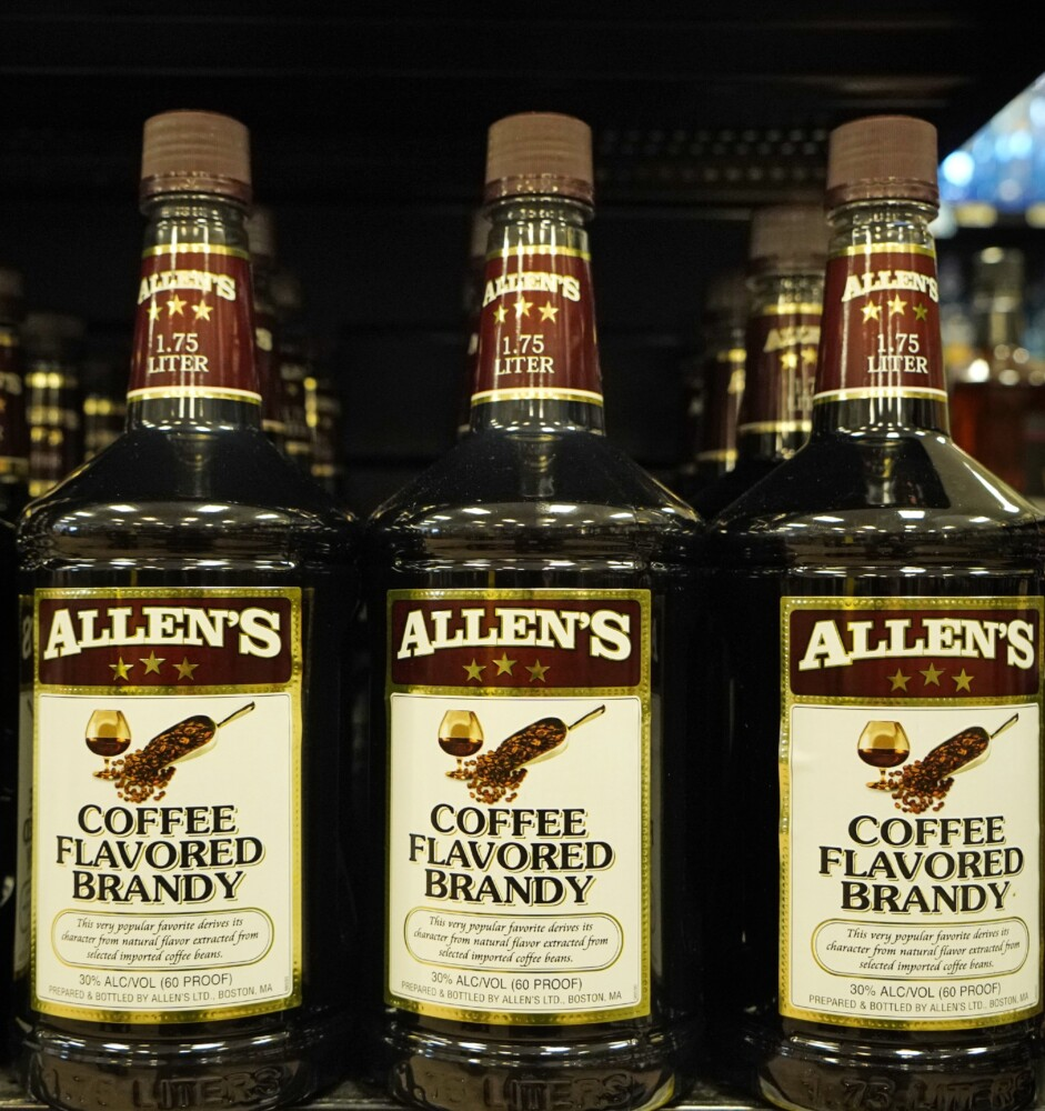 Allen's Coffee Flavored Brandy has long been the best selling liquor in Maine.