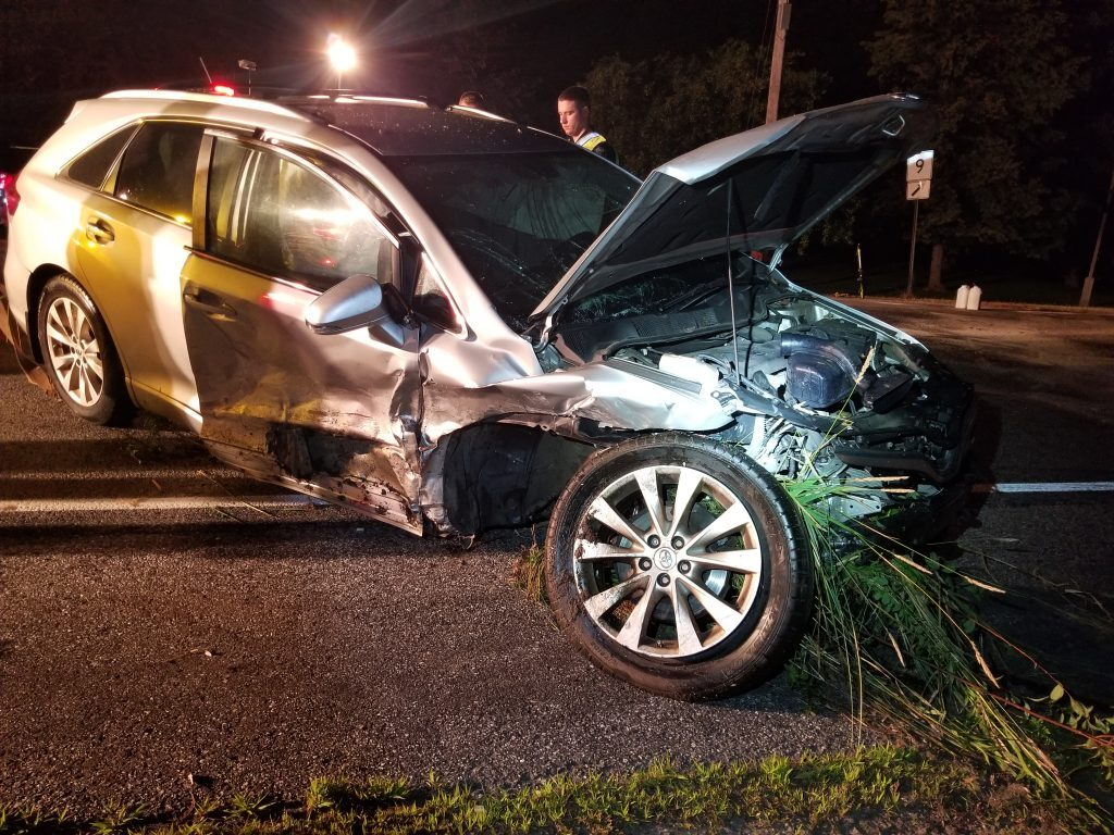 Two people were injured in a head-on collision on Ridge Road (Route 9) in Lisbon Sunday night.