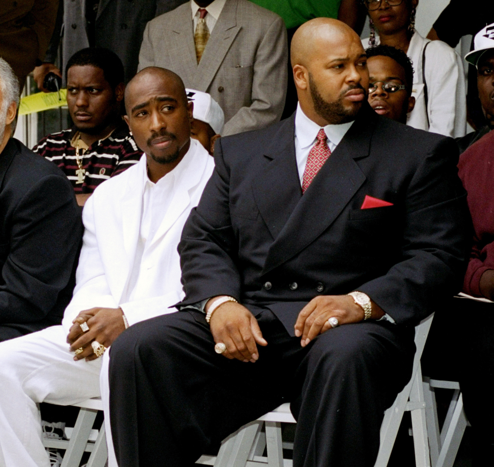 "Tupac Shakur, left, and Marion ""Suge"" Knight"