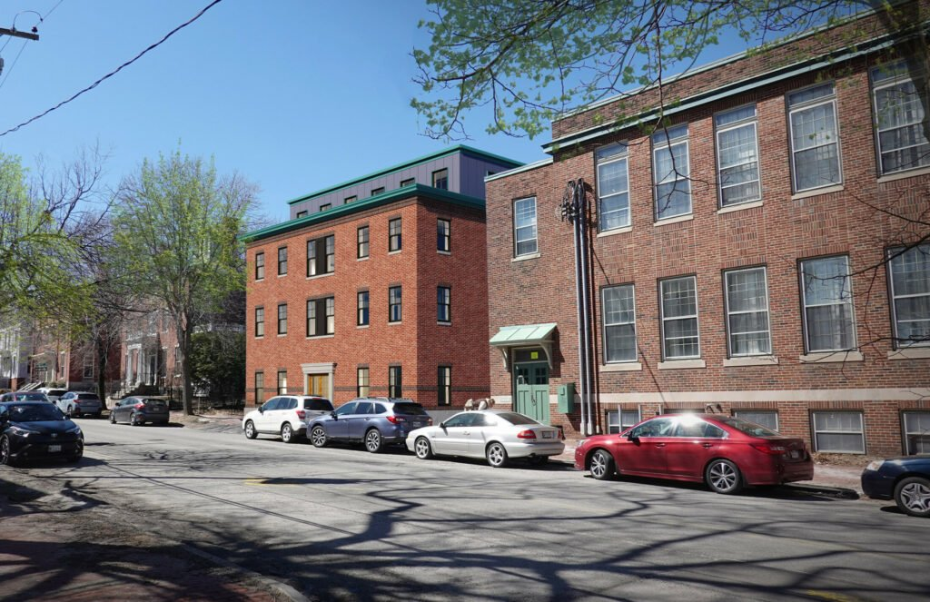 Developers Collaborative is proposing to build a new four-story 30-unit affordable housing building behind 66 State St.