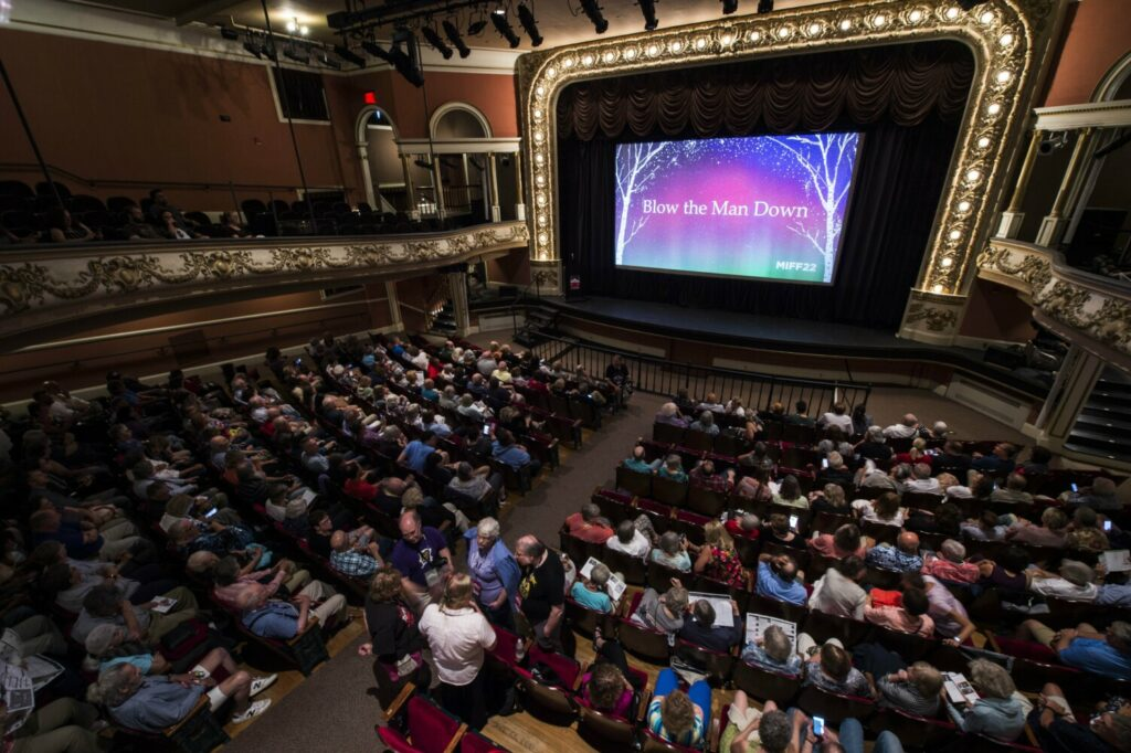 People fill the Waterville Opera House on July 12 for opening night of the Maine International Film Festival.