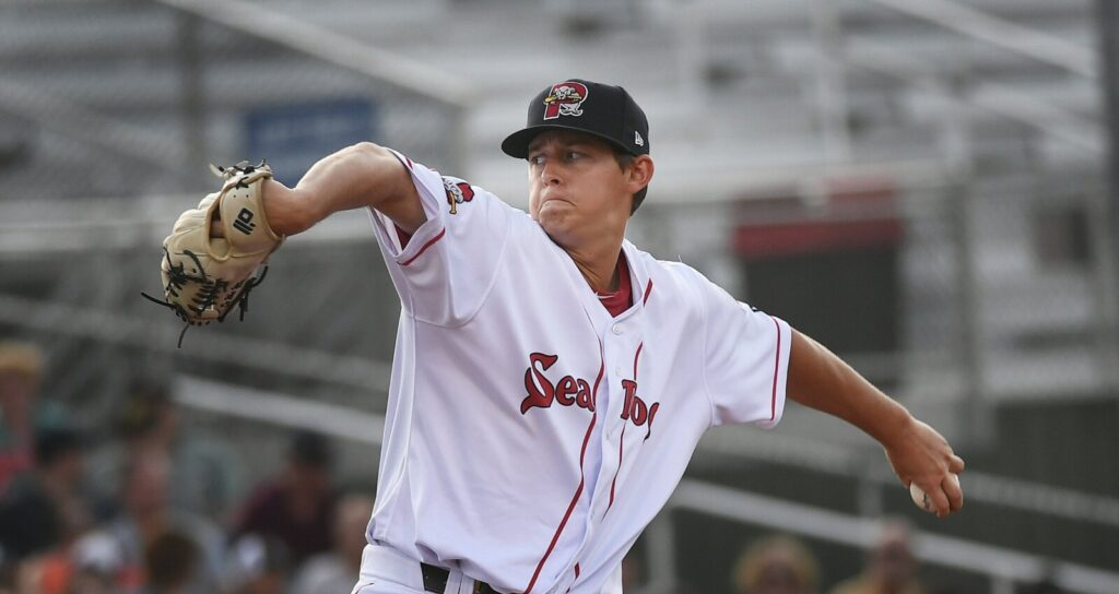 After living with a host family during his first two seasons with the Portland Sea Dogs, pitcher Matthew Kent, like the rest of his teammates, has been living in a hotel this year because of the pandemic – at a cost of $70 per night. That eats up most of the weekly salary for some Sea Dogs players, who earn as little as $600 per week.