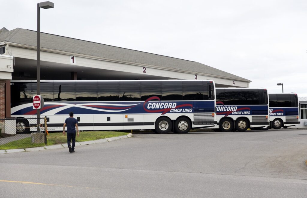 Concord Coach Lines is reviewing its policy allowing federal law enforcement agents to board buses to check passengers' immigration status.