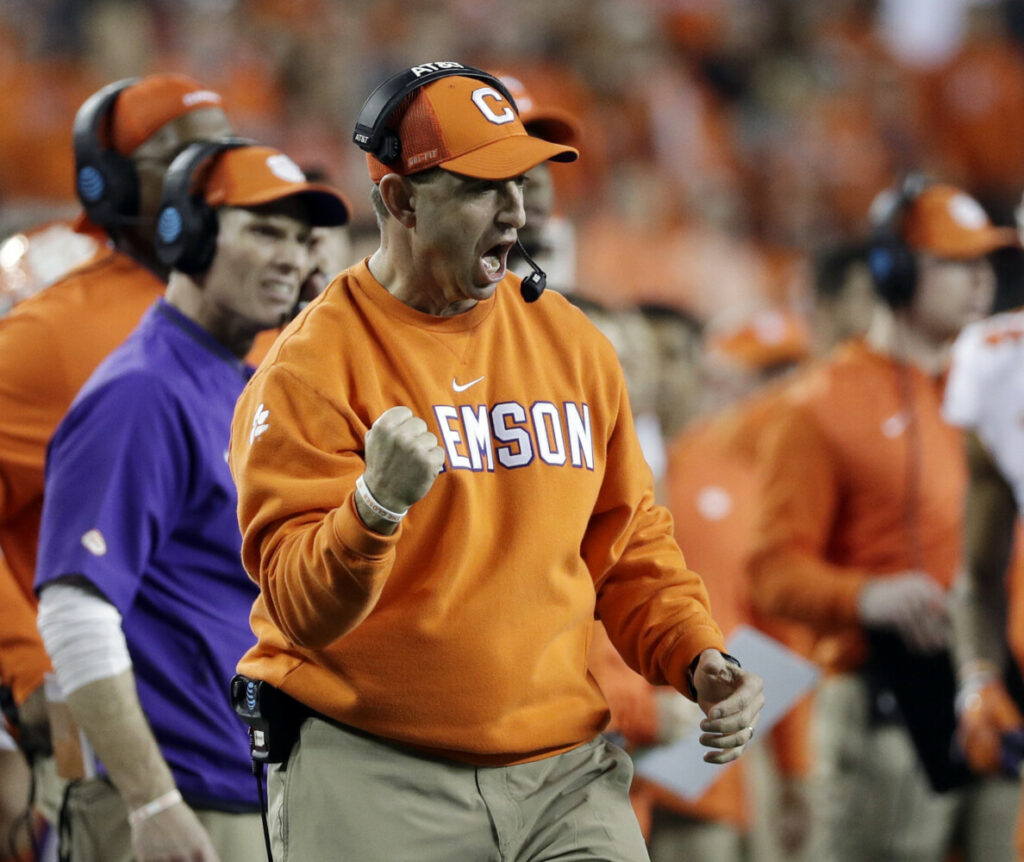 Dabo Swinney knows his Clemson defense has a lot of holes to fill. The defending national champions are without seven defensive starters from the team that dominated Alabama.