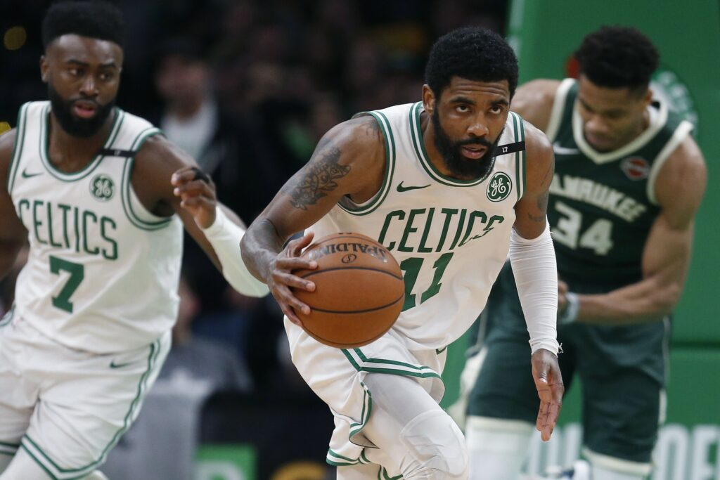 Kyrie Irving announced Monday in a video released by his agent, Roc Nation Sports, he will sign with the Brooklyn Nets.